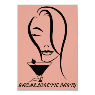 Bachelorette party invitation card