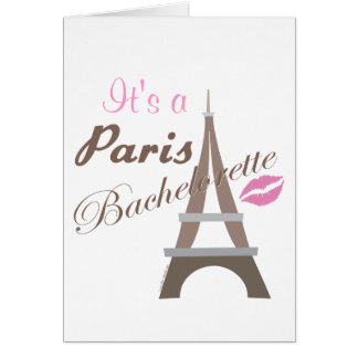 Bachelorette Party Invitation - Eiffel Tower Cards