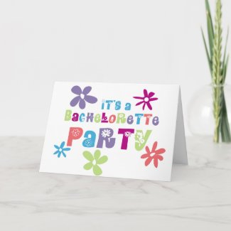 Bachelorette Party Invitation Greeting Card