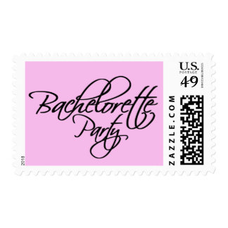 Bachelorette Party Invitation Postage Stamp