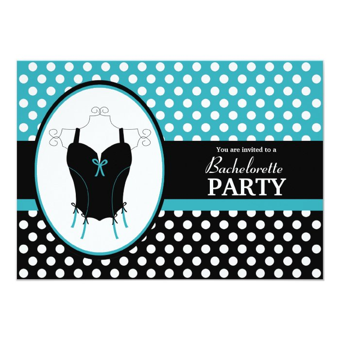 Bachelorette Party Invitation Turquoise Lingerie