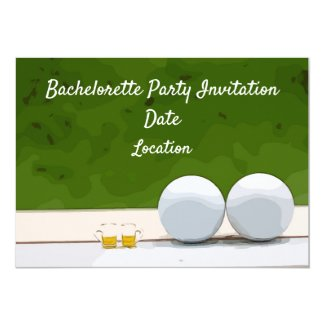 bachelorette Party invitation with balls and beer
