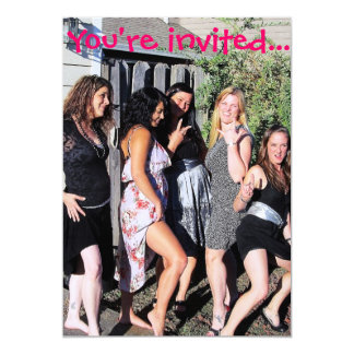 """Bachelorette Party Invitations 5"""" X 7"""" Invitation Card"""