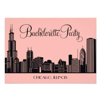Bachelorette Party Invitations Chicago Skyline