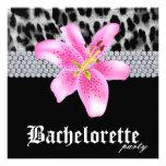 Bachelorette Party Invite Leopard Lily Flower