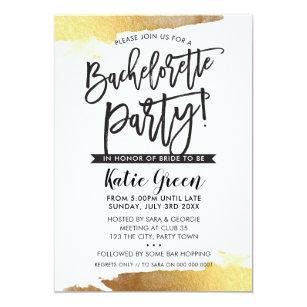Luxurious Bachelorette Party Invitations   Zazzle