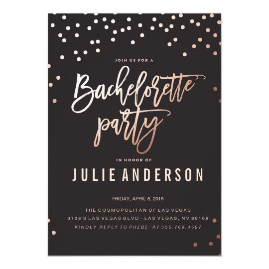 bachelorette party itinerary black invitation zazzle com