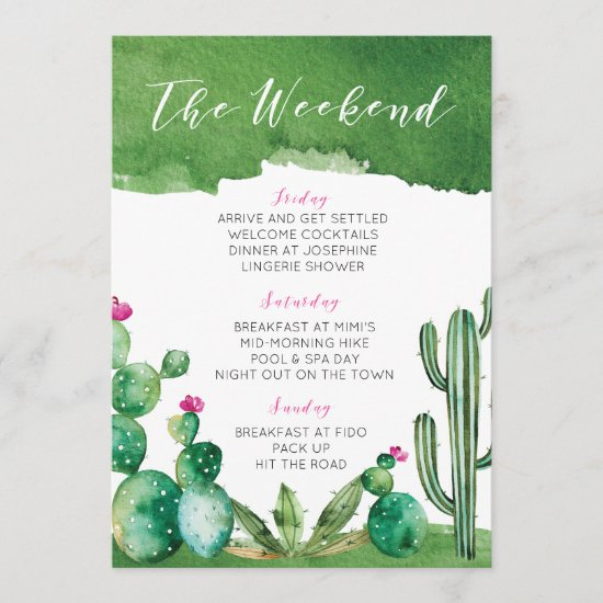 Bachelorette Party Itinerary - Palm Springs Program