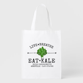Bachelorette Party Kale Vegetarian Foodie Custom Grocery Bag