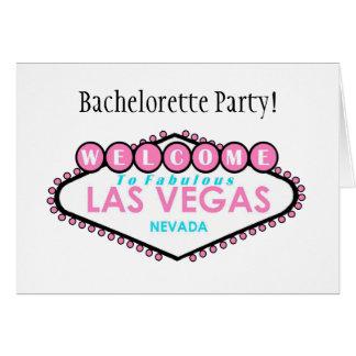 Bachelorette Party Las Vegas Card