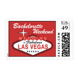 Bachelorette Party Las Vegas Wedding Postage Stamp