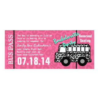 Bachelorette Party Leopard Bus Pass Card