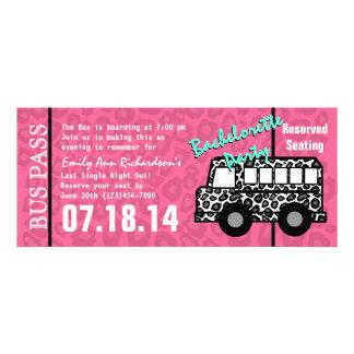 Bachelorette Party Leopard Bus Pass Personalized Invites