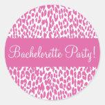 Bachelorette Party Leopard Envelope Sticker Seal