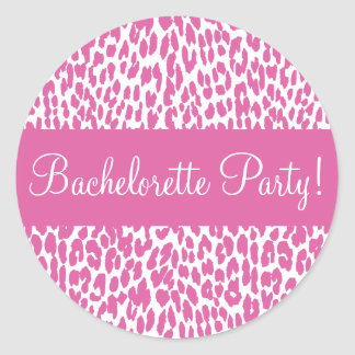 Bachelorette Party Leopard Envelope Sticker Seal