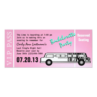Bachelorette Party Limo Pass Card