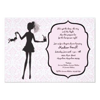 Bachelorette Party Lingerie Shower Invitation