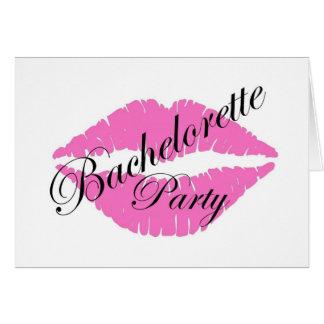 Bachelorette party lips pink card
