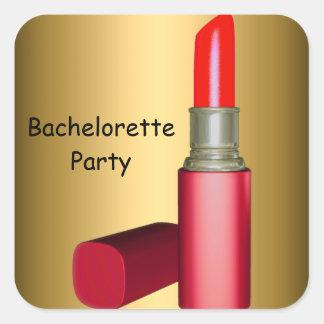 Bachelorette Party LipStick wedding Bachelorette Square Sticker