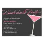 Bachelorette Party Martini 5x7 Paper Invitation Card