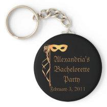 """Bachelorette Party"" - Masquerade Theme Keychain"