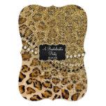 Bachelorette Party Natural Gold Leopard Pattern Card
