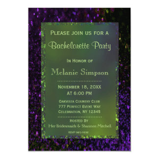 Bachelorette Party | Neon Green and Purple Card