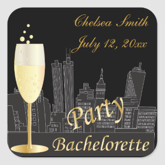 Bachelorette Party   Out on the Town Square Sticker