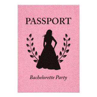 bachelorette party passport personalized invites