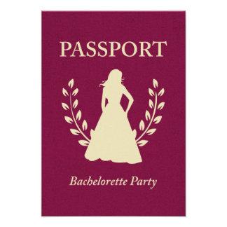 bachelorette party passport invite