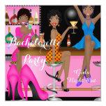 Bachelorette Party Pink Blue Shoe High Heels Shoe Custom Invite