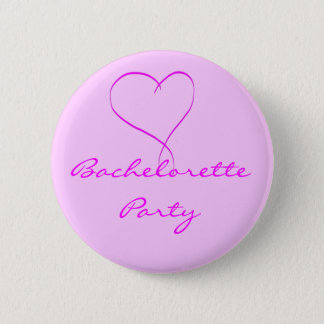 Bachelorette Party pink heart button