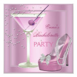 Bachelorette Party Pink High Heel Shoes Invitations