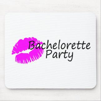 Bachelorette Party Pink Kiss Mouse Pad