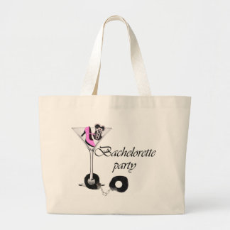 Bachelorette party pink large tote bag