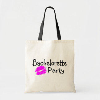 Bachelorette Party Pink Lips Budget Tote Bag