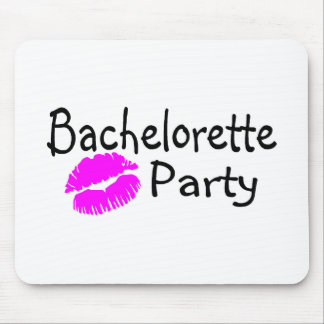 Bachelorette Party Pink Lips Mouse Pad