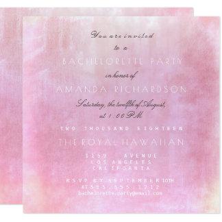 Bachelorette Party Pink Powder Pastel Watercolor Card