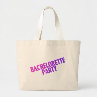 Bachelorette Party Pink Purple Blue Canvas Bag