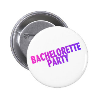 Bachelorette Party Pink Purple Blue Buttons