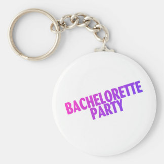 Bachelorette Party Pink Purple Blue Keychain