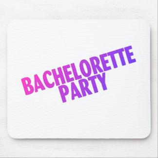 Bachelorette Party Pink Purple Blue Mouse Pad