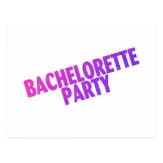 Bachelorette Party Pink Purple Blue Postcard