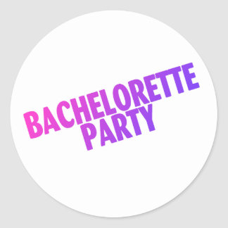 Bachelorette Party Pink Purple Blue Round Stickers