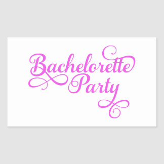 Bachelorette Party pink word art text design for Rectangle Sticker