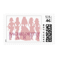 Bachelorette party postage pink