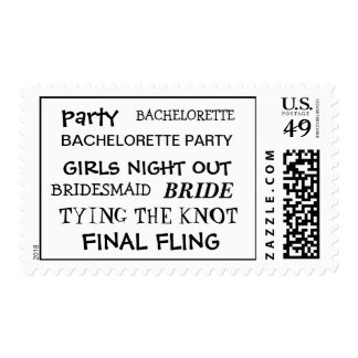 Bachelorette Party Postage Stamp