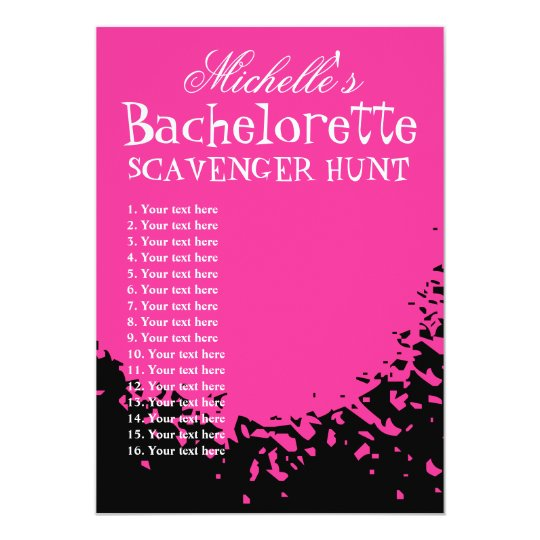 Bachelorette party scavenger hunt template list zazzle bachelorette party scavenger hunt template list maxwellsz