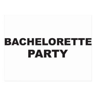 bachelorette party single girl postcard