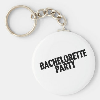 Bachelorette Party (Slanted Black) Keychain